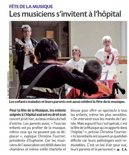 Euphonie fête la musique à l'hôpital