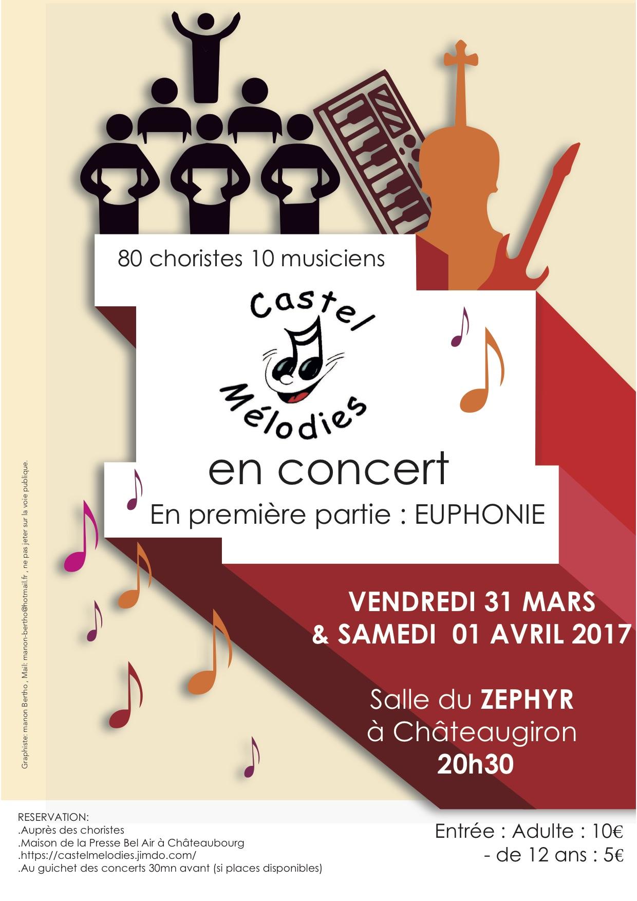 Euphonie en première partie du concert Castel Mélodies